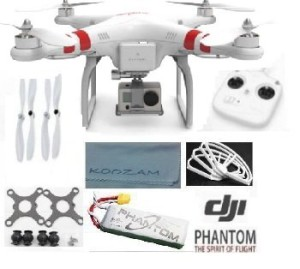 DJI Phantom Aerial UAV Drone Quadcopter Version 1.1.1 for GoPro Camera Hero 1 2 3 Hero3+ Silver Black and other actioncams + DJI