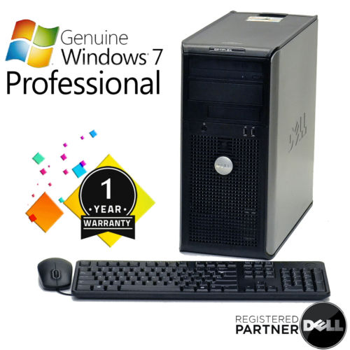 DELL DUAL CORE 3.0 GHZ DESKTOP COMPUTER PC 4 GB RAM, 1 TB HDD, WINDOWS 7