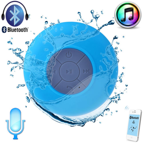 Waterproof Wireless Bluetooth Speaker Mic Shower Car Suction for iPhone 5S 5C 5
