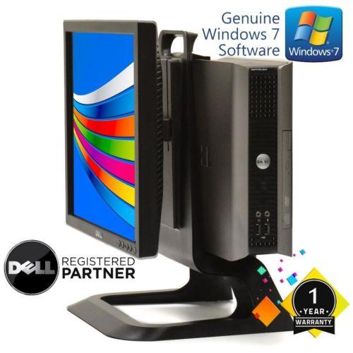 Dell Desktop Computer Windows 7 Dual Core 4GB 80GB with 17