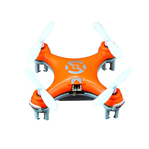 ZPS(TM) Cheerson Cx-10 Mini 2.4g 4ch 6 Axis LED Rc Quadcopter Airplane Orange