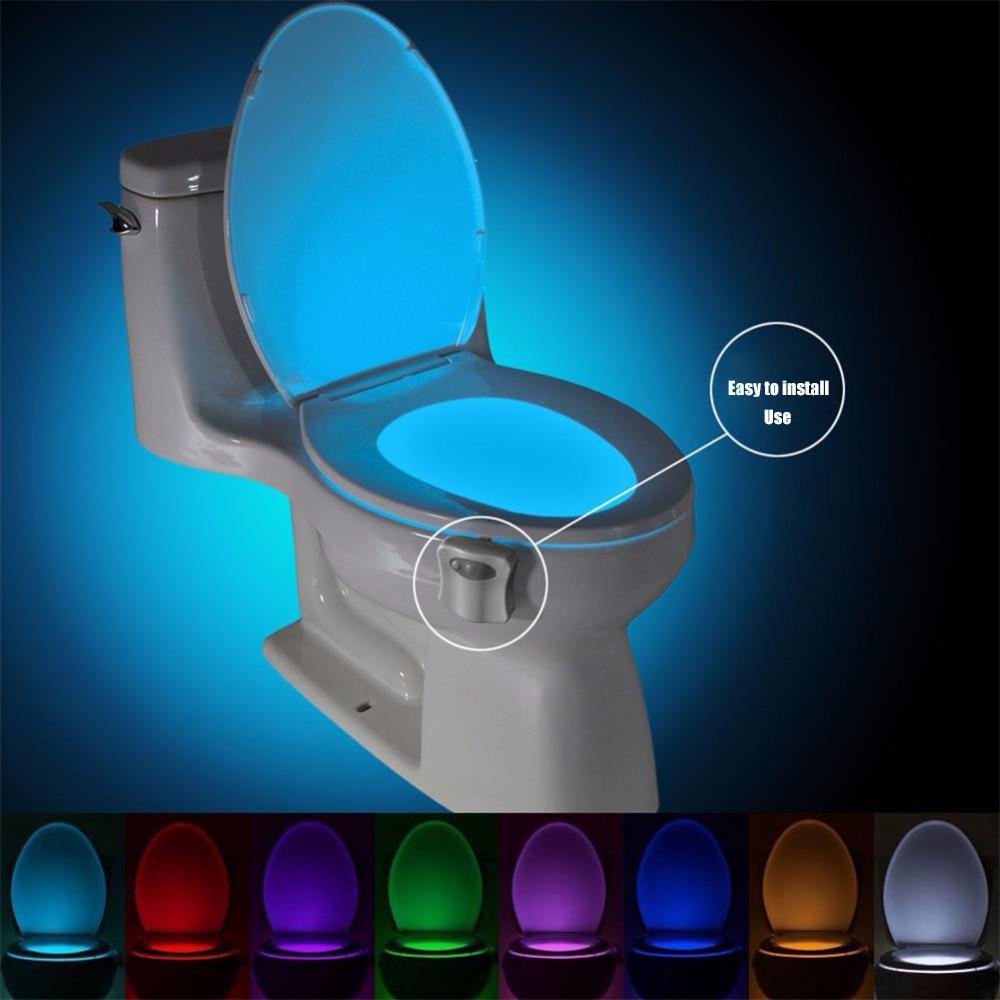 HTB1nYuzc3LD8KJjSszeq6yGRpXaL Smart PIR Motion Sensor Toilet Seat Night Light 8 Colors Waterproof Backlight For Toilet Bowl LED Luminaria Lamp WC Toilet Light