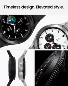 GW4 Feature Set 236x300 SAMSUNG Galaxy Watch 4 Classic 42mm Smartwatch with ECG Monitor Tracker for Health Fitness Running Sleep Cycles GPS Fall Detection Bluetooth US Version, Black