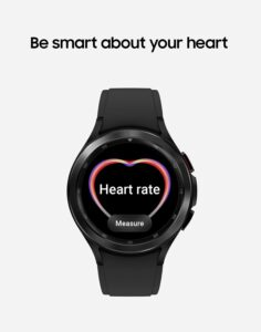 GW4 Heart Rate Monitoring 236x300 SAMSUNG Galaxy Watch 4 Classic 42mm Smartwatch with ECG Monitor Tracker for Health Fitness Running Sleep Cycles GPS Fall Detection Bluetooth US Version, Black